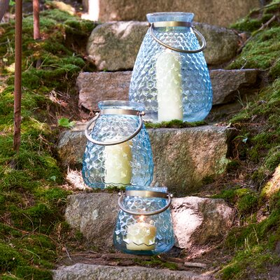 Misty Honeycomb Glass Lantern
