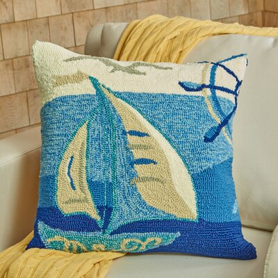 Set Sail Throw Pillow Color: Marine