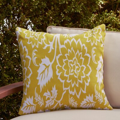 Amara Outdoor Pillow Size: 18 H x 18 W x 4 D, Color: Lime