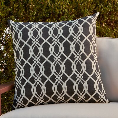 Monica Outdoor Pillow Color: Black