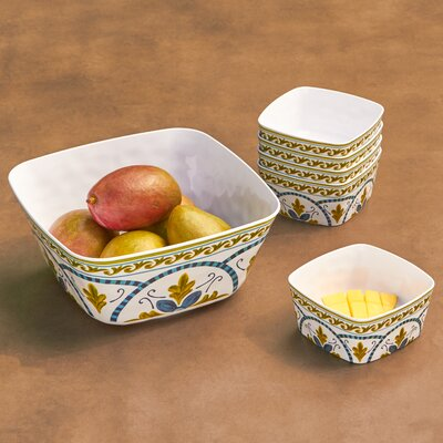 Anacapri 5 Piece Melamine Salad Serving Set