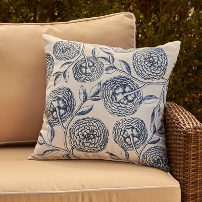 Esther Outdoor Pillow Color: Navy Blue, Size: 20 H x 20 W