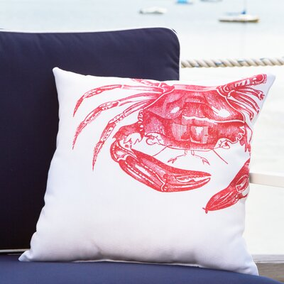 Red Crab Outdoor Pillow Size: 18 W x 18 D
