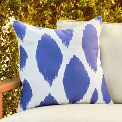 Ilana Outdoor Pillow Size: 18 H x 18 W x 1 D, Color: Dazzling Blue