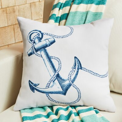 Blue Anchor Outdoor Pillow Size: 20 W x 20 D
