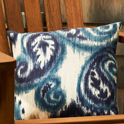 Esmeralda Outdoor Pillow Color: Indigo