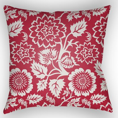 Amara Outdoor Pillow Size: 20 H x 20 W x 5 D, Color: Red
