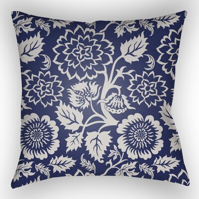Amara Outdoor Pillow Size: 18 H x 18 W x 4 D, Color: Indigo