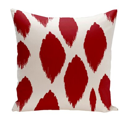 Ilana Outdoor Pillow Size: 18 H x 18 W x 1 D, Color: Red