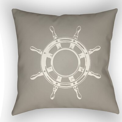Castaway Outdoor Pillow Size: 18 H x 18 W x 4 D, Color: Brown