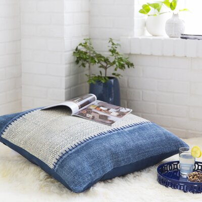 Lola Pillow with Poly Fill in Ivory, Slate, Navy - 30
