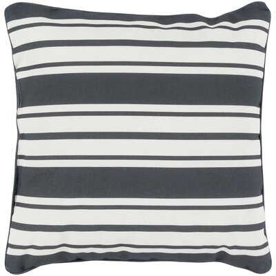 Outdoor Pillow-Black & White Stripe Big