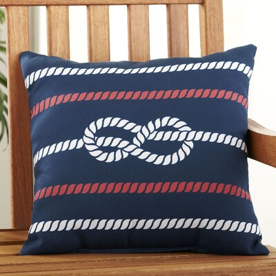 Figure Eight Polyester Throw Pillow Color: Red, White & Blue, Size: 18