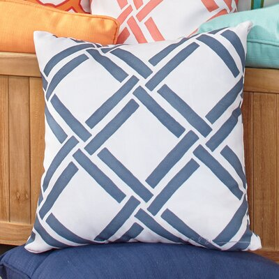 Gia Outdoor Pillow Color: Navy