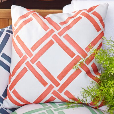 Gia Outdoor Pillow Color: Orange, Size: 18