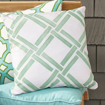 Gia Outdoor Pillow Color: Green, Size: 18