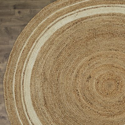 Cordell Ivory-Striped Jute Rug