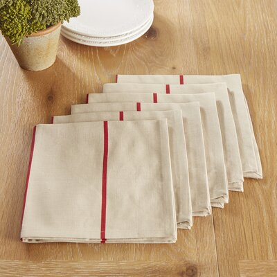 Topsfield Napkins Color: Red