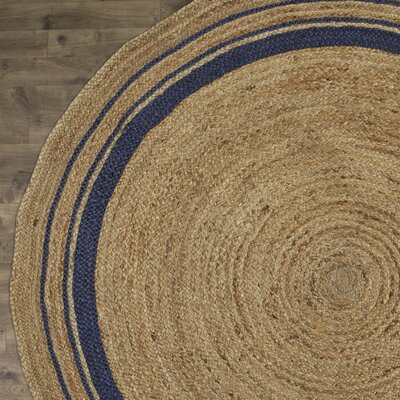 Cordell Navy-Striped Jute Rug