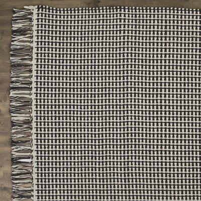 Iggy Black Rug Rug Size: 4 x 6