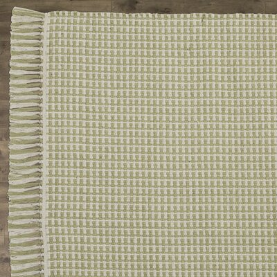 Iggy Hand-Woven Cotton Olive Area Rug Rug Size: Rectangle 3 x 5