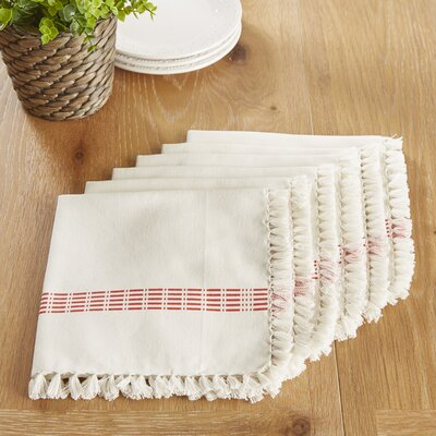 Guildford Napkins Color: Red