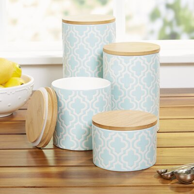 Kirkby Canisters Color: Teal