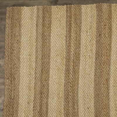 Haywood Hand-Woven Ivory Area Rug Rug Size: 5 x 7