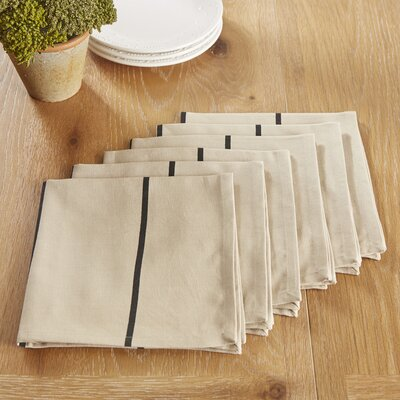 Topsfield Napkins Color: Black
