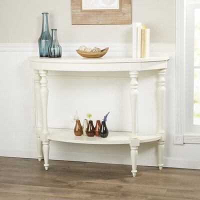 Hassan Demilune Console Table Finish: White