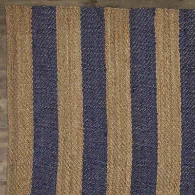 Haywood Hand-Woven Navy Area Rug Rug Size: 4 x 6