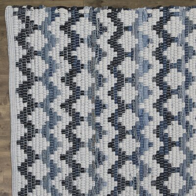 Layne Hand-Woven Cotton Area Rug Rug Size: Square 4