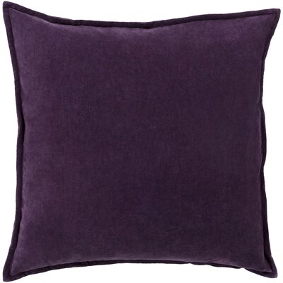 Samara Velvet Pillow Cover Size: 20 H x 20 W x 1 D, Color: Purple