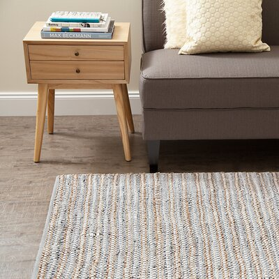 Holden Hand-Woven Fog Area Rug Rug Size: Rectangle 8 x 10