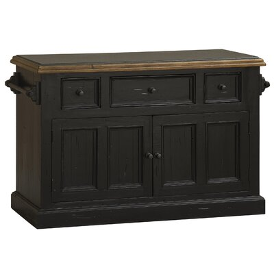 Harris Kitchen Island Finish: Black