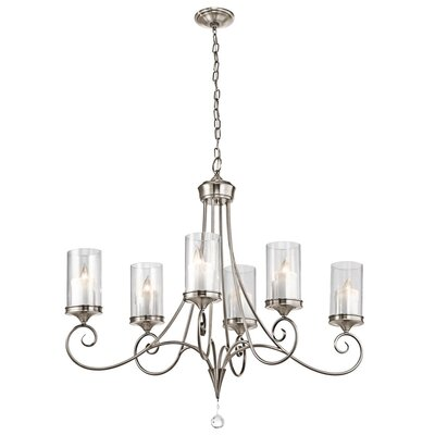 Osbourne 6-Light Candle-Style Chandelier Finish: Classic Pewter