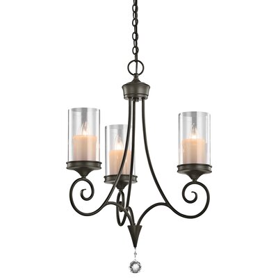 Azaria 3-Light Candle-Style Chandelier Finish: Shadow Bronze