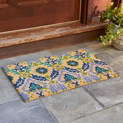 Andres Cobalt Welcome Doormat Rug Size: Rectangle 16 x 24