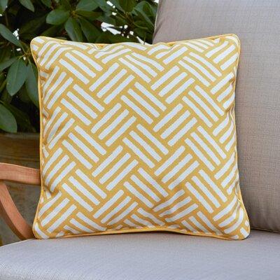Abilene Outdoor Pillow Size: 16 H x 16 W x 4 D, Color: Yellow