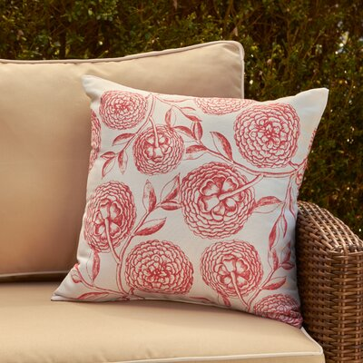 Esther Outdoor Pillow Size: 18 H x 18 W, Color: Coral