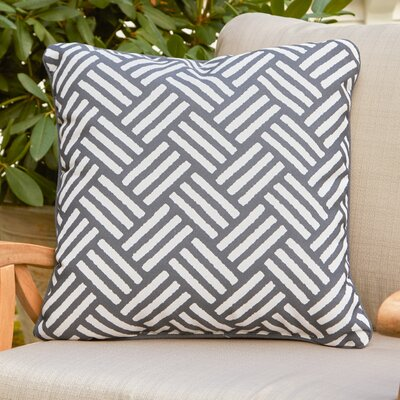 Abilene Outdoor Pillow Size: 20 H x 20 W x 4 D, Color: Light Gray
