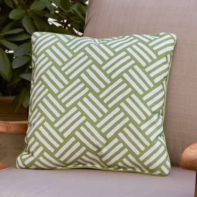Abilene Outdoor Pillow Size: 20 H x 20 W x 4 D, Color: Green