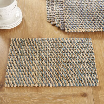Pescadero Placemats (Set of 6) Color: Dash Navy