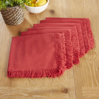 Northfield Napkins Color: Red