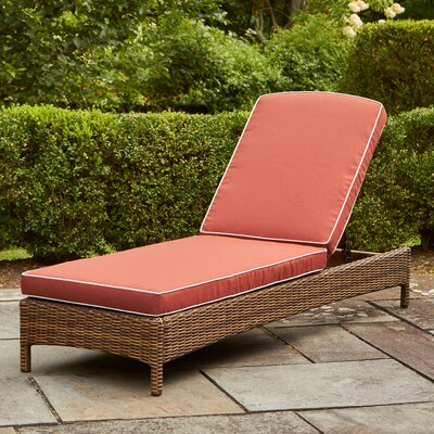 Lawson Chaise Lounge with Cushions Fabric: Sangria