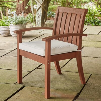 Rossi Patio Dining Chair with Cushion Fabric: White