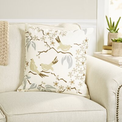 Stamped Doves Pillow Cover