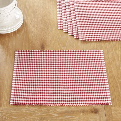 Harrogate Placemats Color: Barbados Cherry