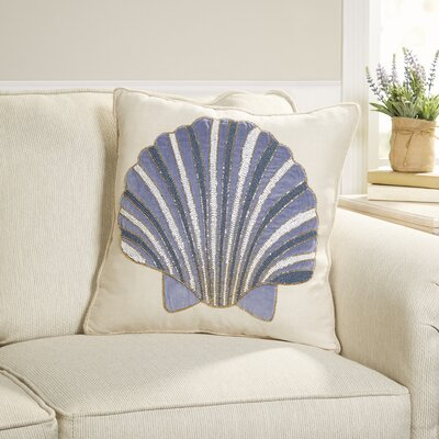 Shimmering Seashell Pillow