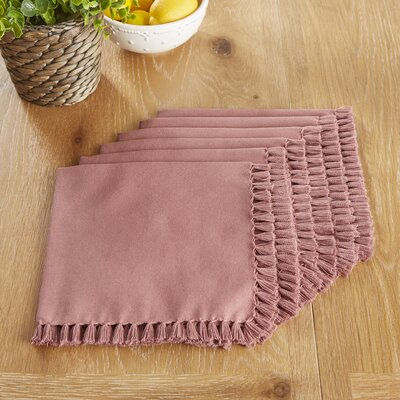 Robbinston Napkins Color: Mauve